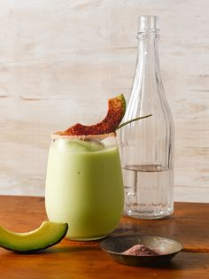 Toast to Mexican Independence Day with tequila, mezcal cocktails Avocado Cocktail Recipe, Cocktail Recipes, Cocktail Ideas, Drink Recipes, Avocado Drink, Bbq Drinks, Yummy Drinks, Beverages, Tequila Drinks