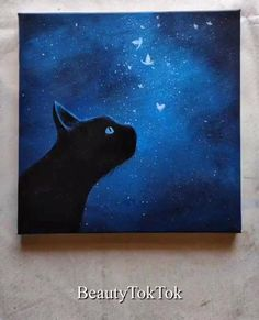 Easy Canvas Art, Simple Canvas Paintings, Small Canvas Art, Mini Canvas Art, Easy Art, Canvas Ideas, Beautiful Paintings, Cute Easy Paintings, Dark Paintings
