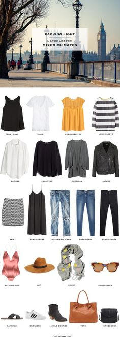 What to Pack for a mixed climate packing light #packinglight #travellight #traveltips #travel