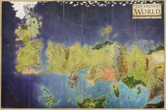 Official Map of 'A Song of Ice and Fire' by George RR Martin