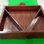 Mahogany vintage ball tray with integral triangle. Shown before French polishing.B571 | Browns Antiques Billiards and Interiors.