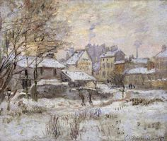Claude Monet - Snow Effect with Setting Sun, 1875