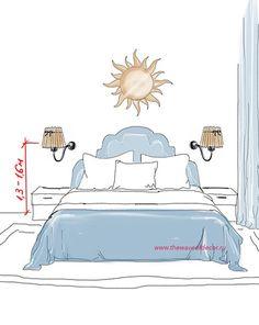 размещаем светильники в спальне правильно