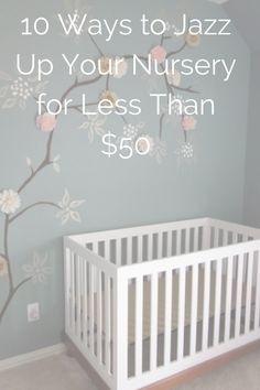 On a budget? You don't need to skimp on the nursery. With a few supplies and DIY spirit you can turn the most important room in the house into a stylish haven that's full of fun and functional twists. Click through our album for ideas we found across the web. Happy decorating! #DIY #nursery #budget