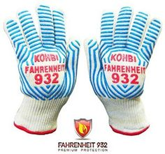 Amazing Premium Protection Heat Resistant Gloves, Cooking Gloves, BBQ Gloves, Oven Gloves! Try a pair to cook with confidence!