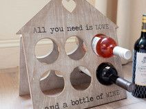 Weinregal Love & Wine - Holz