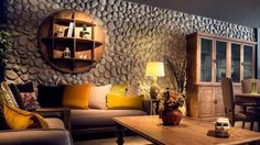 Dekoratif Taş Nasıl Döşenir House Design, Ceiling Lights, Lighting, Modern, Furniture, Home Decor, Tv Unit, Living Room, Homemade Home Decor