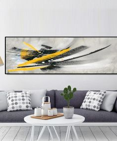 Minimalistic Black and Yellow Abstract Oil Painting on Canvas Posters and Prints Wall Art Pictures for Living Room Nordic Decor Canvas Poster, Canvas Wall Art, Wall Art Prints, Living Room Pictures, Wall Art Pictures, Types Of Art Styles, Living Room Art, Oil Painting Abstract, Decoration