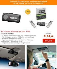 Kit Vivavoce Bluetooth per Auto ''Prim''    COD: IDATA BLT-CAR2   - Kit vivavoce 'Prim' wireless senza cavi, si installa sul parasole - Filtro di riduzione dei rumori, Full Duplex, potente diffusore Connessione simultanea a 2 cellulari - Supporta accettazione delle chiamate, rifiuto di chiamata, ricomposizione e composizione vocale - Semplice accesso ai comandi per una guida sicura http://www.nicoshop.it/prodotti/computer/kit-vivavoce-bluetooth-per-auto-prim?v=cd32106bcb6d