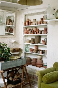 Camellas Lloret: the potting shed at romantic holiday home in the South of France