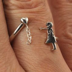 Banksy Balloon Girl Ring by chrisparry on Etsy