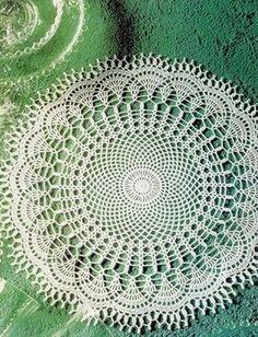 Round crocheted doily