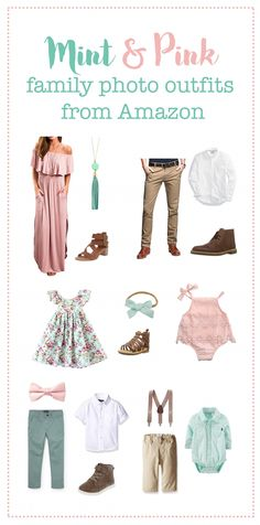 Spring Family Photo Outfits Spring Family Photo Outfits Stacey Erickson stcybt Family picture outfits Mint and Pink Family photo Spring Family Pictures, Family Pictures What To Wear, Beach Family Photos, Easter Pictures, Baby Pictures, Family Pics, Family Posing, Family Photo Shoots, Beach Pics