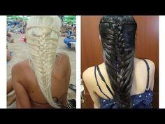 Mermaid French Braid Hairstyle for Medium Long Hair Tutorial