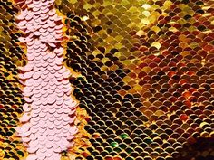 72b5de1c1 MERMAID Reversible 5mm Sequin Fabric Flip Two Tone Stretch Material - 130cm  wide - Baby Pink