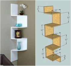 50 Attractive Corner Wall Shelves Design Ideas for Living Room Woodworking Projects Diy, Woodworking Wood, Wood Projects, Furniture Projects, Woodworking Templates, Youtube Woodworking, Woodworking Store, Woodworking Techniques, Popular Woodworking