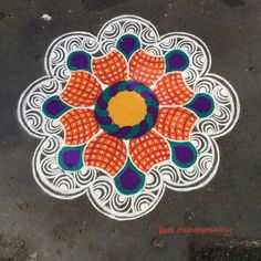 Rangoli Kolam Designs, Kolam Rangoli, Rangoli Simple, Happy Pongal, Latest Rangoli, Indian Rangoli, Beautiful Rangoli Designs, World Cultures, Hand Embroidery