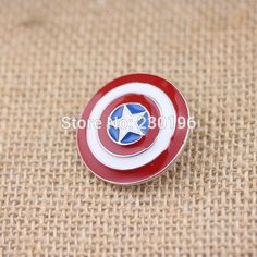 Captain America Brooch Superhero Vintage Shield Brooch Pin Logo-in Brooches from Jewelry & Accessories on Aliexpress.com | Alibaba Group