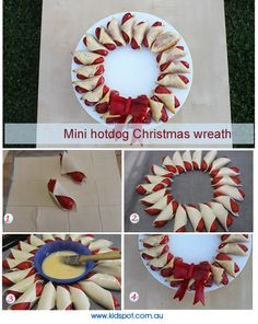 mini hotdog christmas wreath recipe more christmas wreaths best ...