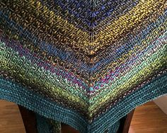 free pattern Noro woven stitch shawl (10 ply - this pattern uses two balls of Kureyon and one ball of either Retro or Silk Garden Solo)