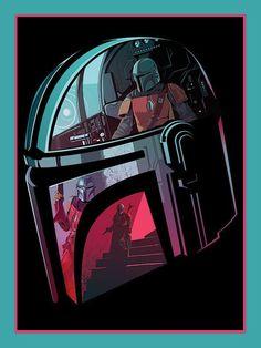 Star Wars: The Mandalorian Official Poster Art from Pyramid International Star Wars Fan Art, Star Trek, Star Wars Characters, Star Wars Episodes, Mandalorian Poster, Star Wars Helmet, Cuadros Star Wars, Star Wars Wallpaper, Dc Comics