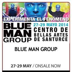 BLUE MAN Group desde el 27 de mayo de 2014 en el Centro de Bellas Artes en Santurce. Experimenta el Fenómeno. BLUE MAN GROUP es mejor conocido por sus descabelladas populares actuaciones en teatros y conciertos donde combinan la comedia, la música, y la tecnología para producir una forma totalmente única de entretenimiento.  #ticketpop #bluemangroup