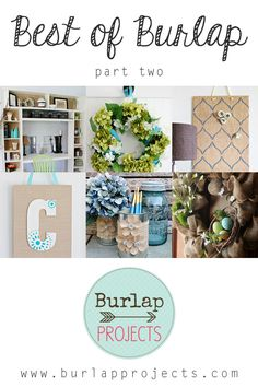 Looking for some unique and fabulous Burlap DIY Projects? Check out Best of Burlap Part Two and you will find an incredible array of DIY's. Burlap Projects, Burlap Crafts, Crafty Projects, Diy Projects To Try, Decor Crafts, Fabric Crafts, Diy Crafts, Cute Crafts, Crafts To Make
