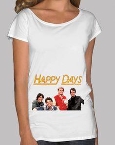 T-shirt da donna scollo amplio & Loose Fit, bianco