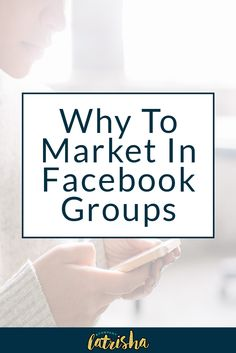 Why to Market Your Business In Facebook Groups | I used to really not pay attention to Facebook Groups when I was doing my marketing but then I started to see the potential that not only it had to grow my business but to build real connections with people. Here's how to market your business in Facebook Groups plus a daily to do checklist.