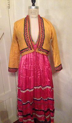 Syria. Golan villages الجولان . Satin dress with short jacket. Aida Dalati Collection