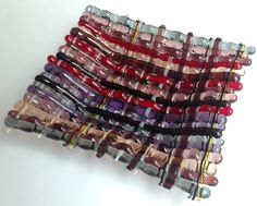 Glass Weaving - first attempt using ceramic fibre paper to make the warp strands.
