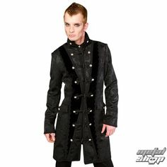 9b6fc6b1a15 kabát pánsky Aderlass - Classic Coat Brocade Black - A-7-03-040