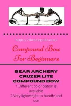 Getting the compound bow is indeed an important task if you want to be a pro in archery. However, when it comes to the learners, Bear Compound Bow especially Bear Cruzer Lite can make a great choice Bear Compound Bow, Bow Stabilizer, Archery, Things To Come, Bows, Bow Arrows, Arches, Bowties, Ribbon