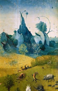 Titre de l'image : Jérôme Bosch - Garten der Lüste Magritte, Hieronymus Bosch Paintings, Art Roman, Arte Tribal, Garden Of Earthly Delights, Renaissance Artists, Dutch Painters, Abstract Drawings, Surreal Art