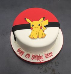 pokemon cake another great idea, a red pokeball and a yellow pokemon being pikachu with red cheeks cake decorating recipes kuchen kindergeburtstag cakes ideas Pokemon Birthday Cake, 18th Birthday Cake, Cool Birthday Cakes, Birthday Cake Girls, Bolo Pikachu, Pikachu Cake, Pokemon Torte, Pokemon Cakes, Captain America Birthday Cake