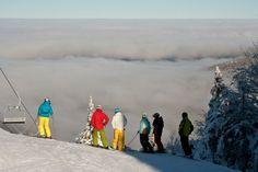 Du ski au dessus des nuages