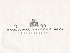 Premade photography logo design and photography logo watermark using a camera