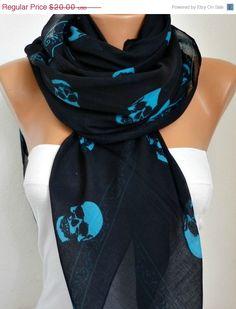 Skull Scarf - Scarves Fashion