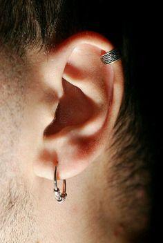 ear piercings; both ears