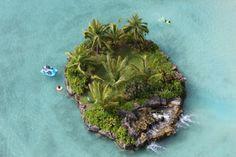 I'd swim around that island