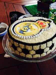 Pastel de chocolate y cajeta de Real Madrid (sweet Art) Real Madrid Celebration