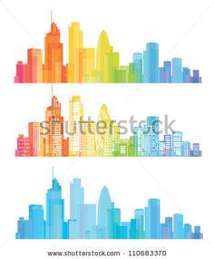 Vector of colorful London skyline by rvika, via Shutterstock