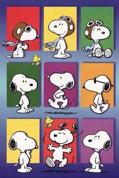 The many faces of Snoopy! Snoopy Love, Snoopy E Woodstock, Snoopy Tattoo, Charlie Brown Cafe, Charlie Brown And Snoopy, Snoopy Comics, Snoopy Wallpaper, Disney Wallpaper, Peanuts Cartoon