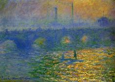 Claude Monet - Waterloo Bridge, London | Monet Art Reproduction and custom paintings online to wholesale price. 100% Satisfaction guarantee.