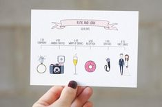 Hochzeit Programm illiustriert von Blankaillustration via Etsy