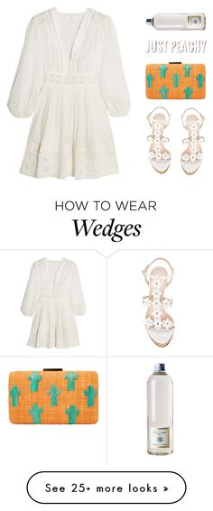 """C A C T U S  C L U T C H"" by starit on Polyvore featuring Zimmermann, Kayu, Oscar de la Renta and Dr. Vranjes"