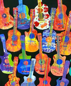 GORGEOUS GUITARS! So colorful! Art with Ms. Gram: Las Guitarras de Paracho (3rd/4th)