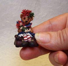 Raggedy- Anne Bear with Raggedy-Anne Doll by Manda Theart