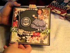 Sliding Easel Card (like the mini album idea)
