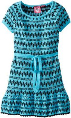 Derek Heart Girl Girls 7-16 Self Belted Jaquard Sweater Dress - List price: $34.99 Price: $15.19 Saving: $19.80 (57%)